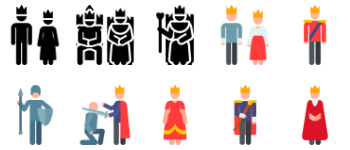 Royalty pictograms